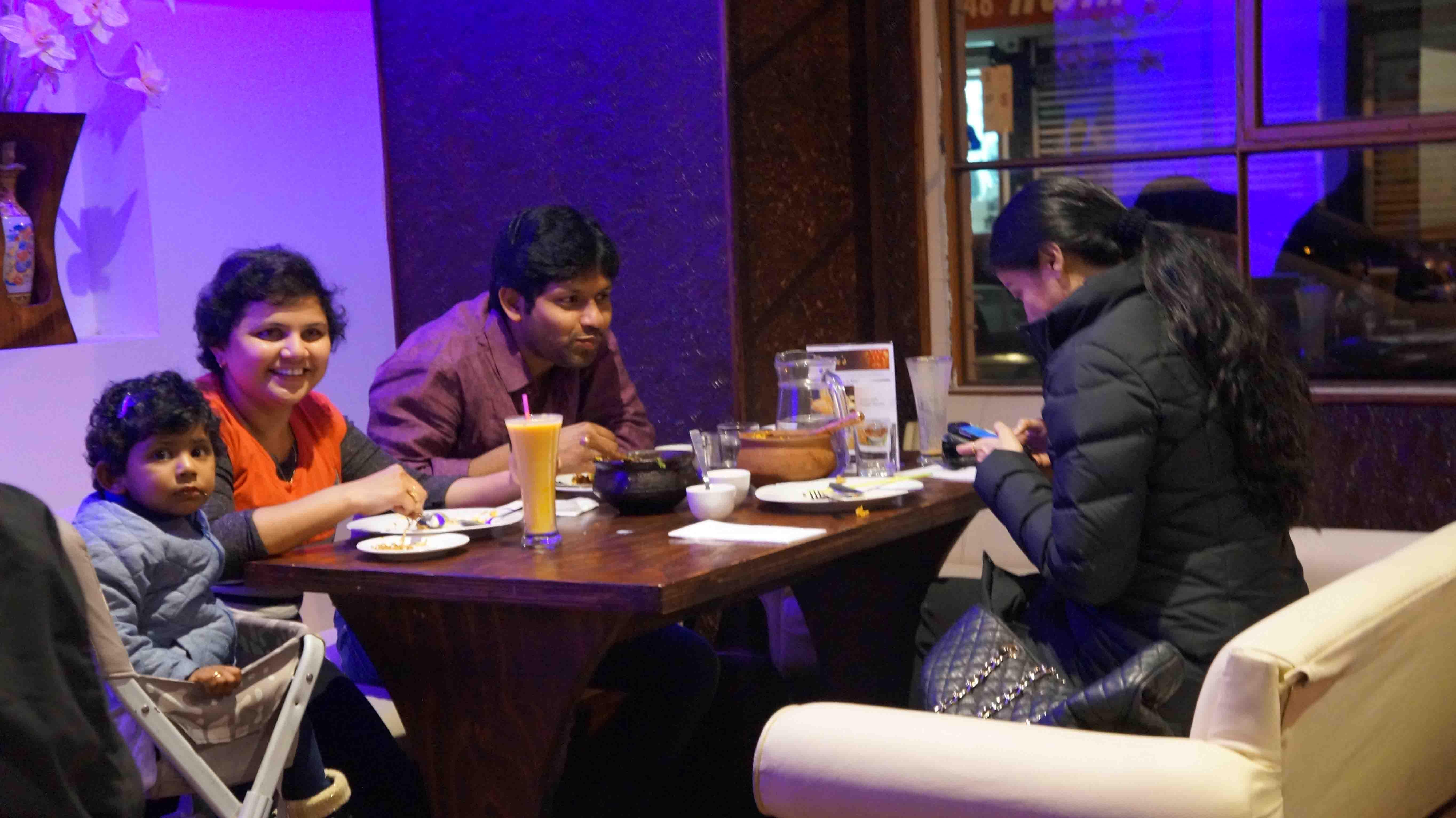Enjoy family dinner